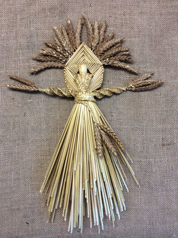 An example of a Corn Dolly made from the last sheaf of wheat