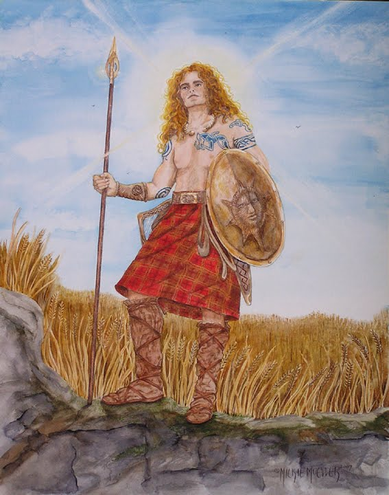 Lugh, the Irish God of Skills and Justice after whom Lughnasadh is named.