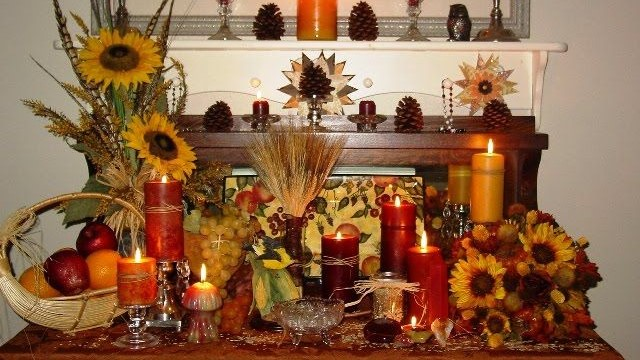 A sacred space packed with the bounty of Lughnasadh and the colours of the season