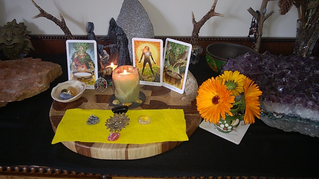 My sacred space for Litha